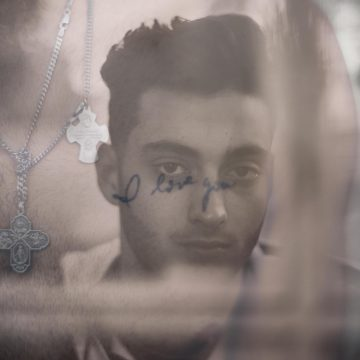double exposure young man