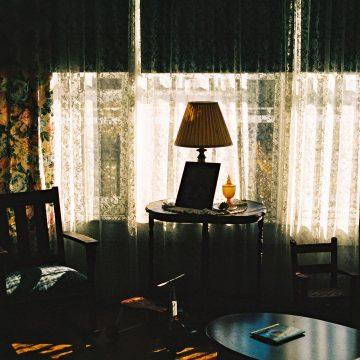 light piercing through window Bill Clinton's home