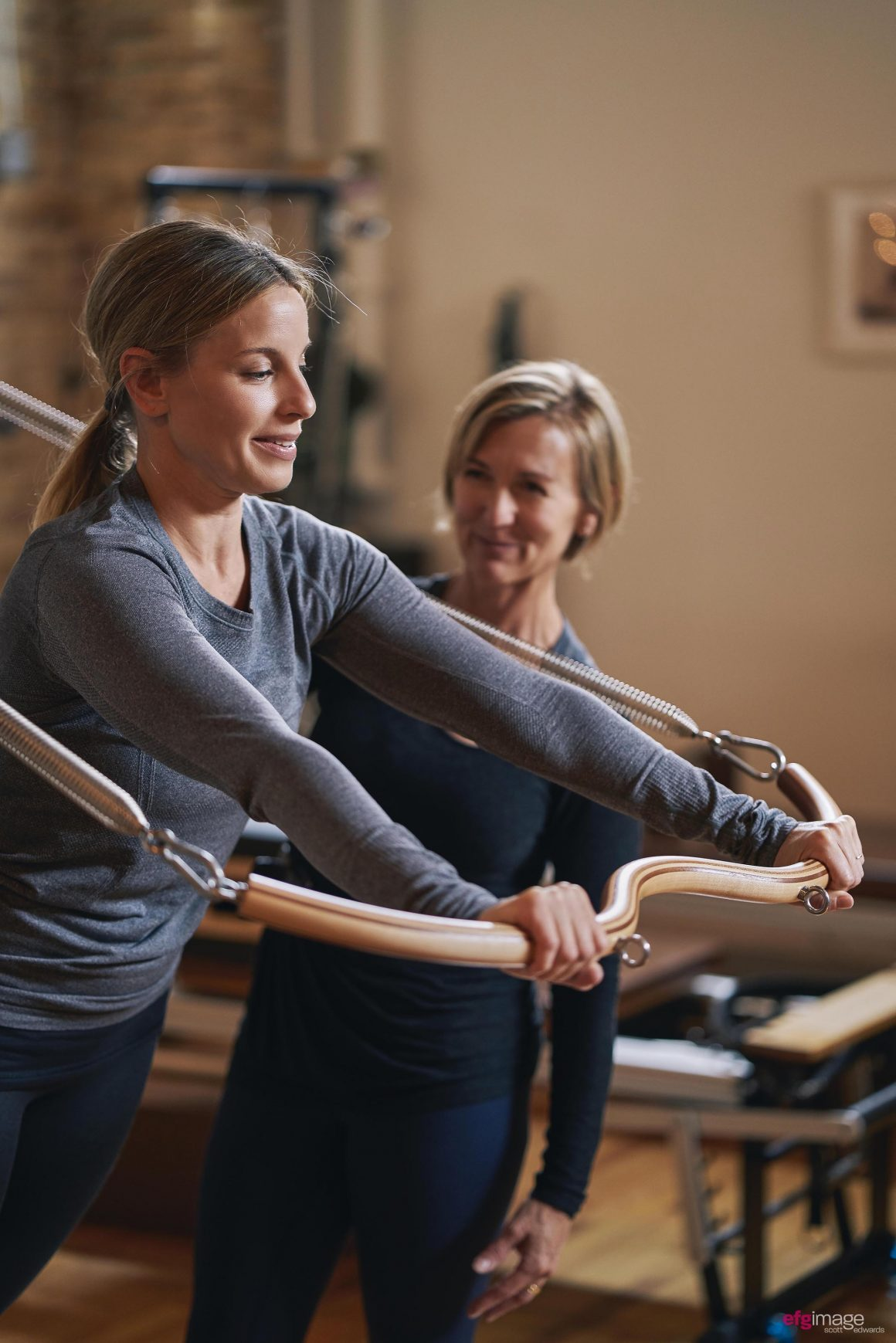 beautiful women do pilates